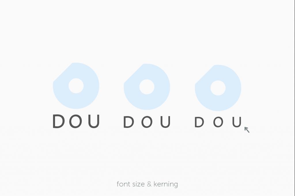 DOUロゴのフォントサイズとカーニングを決める過程