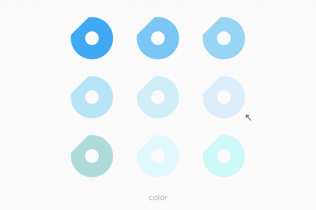 DOUロゴの色を決める過程