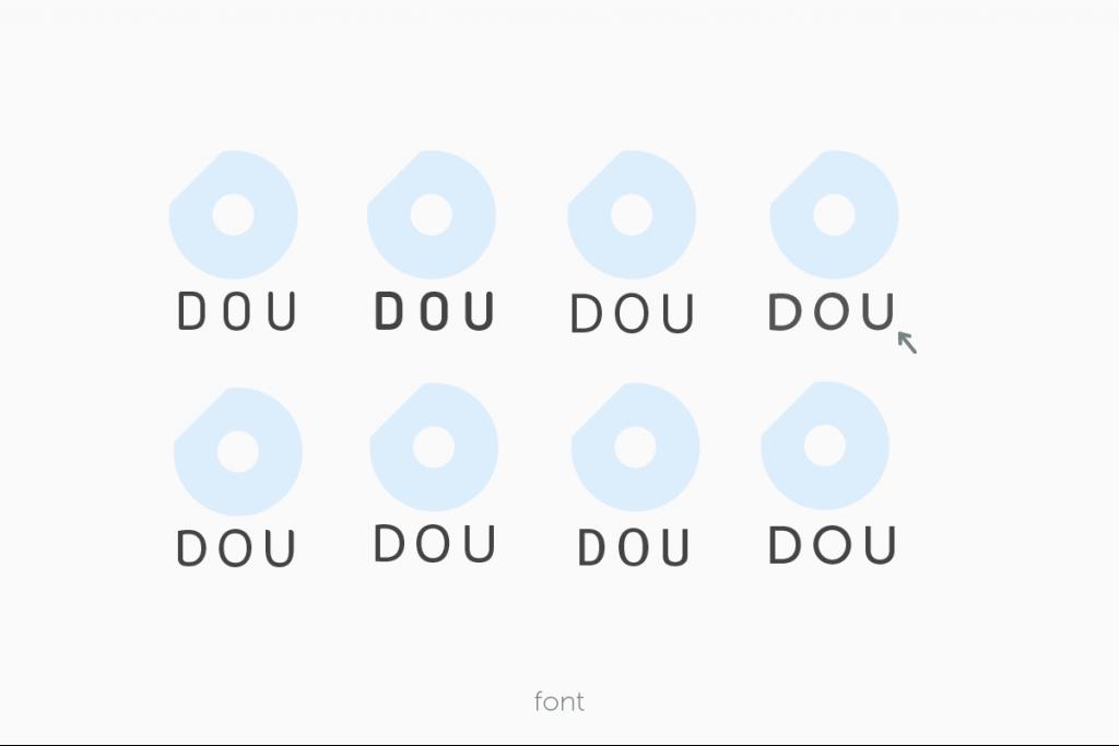 DOUロゴのフォントを決める過程