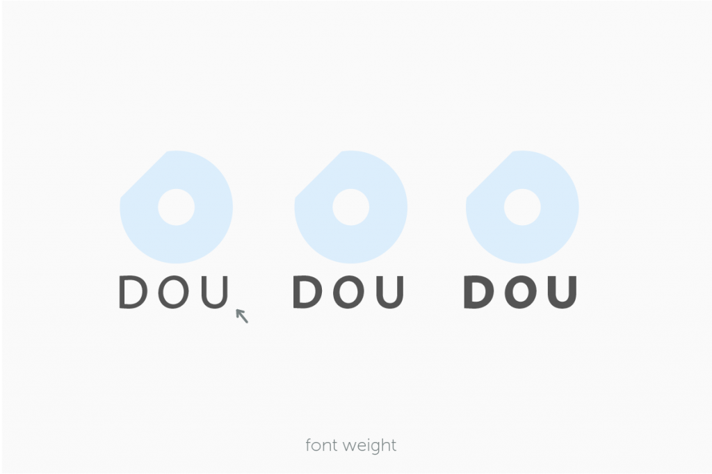 DOUロゴのフォントの太さを決める過程