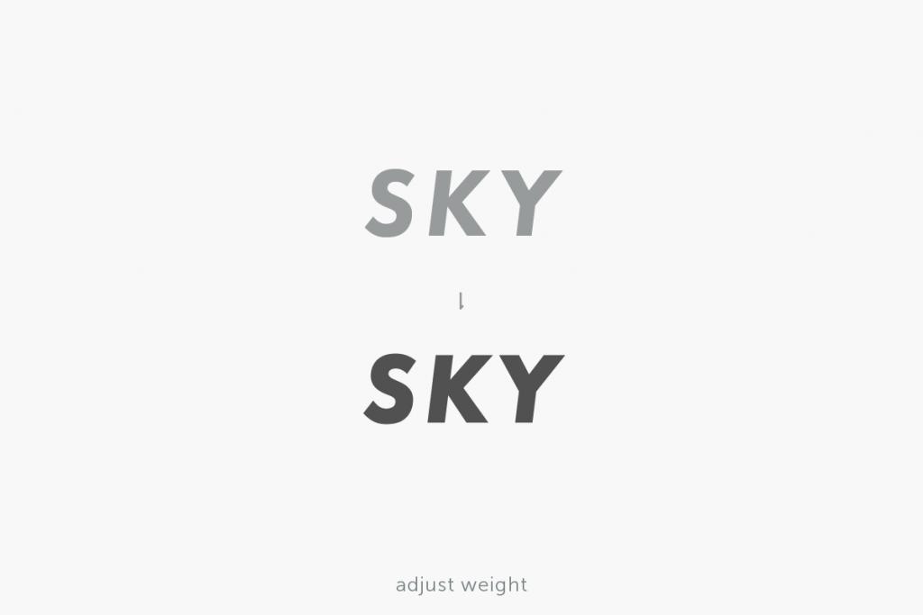 SKY_岡山県倉敷市の外構工事事業者様のロゴ_文字の太さの微調整