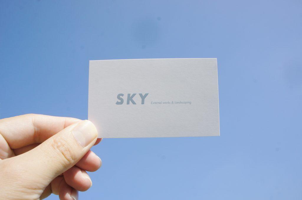 SKY_岡山県倉敷市の外構工事事業者様の名刺_裏の写真
